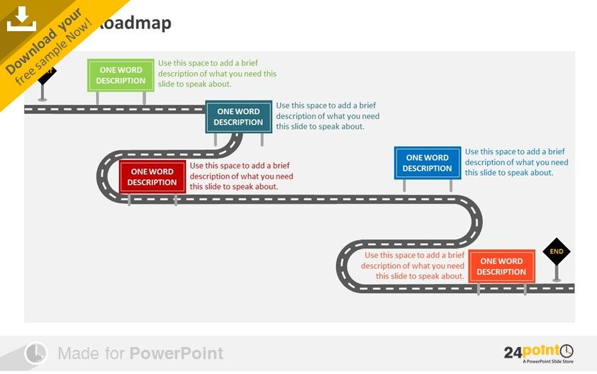 Technology Roadmap Subway Map.Free Download Offer On 24point0 Product Roadmap Slide Agile