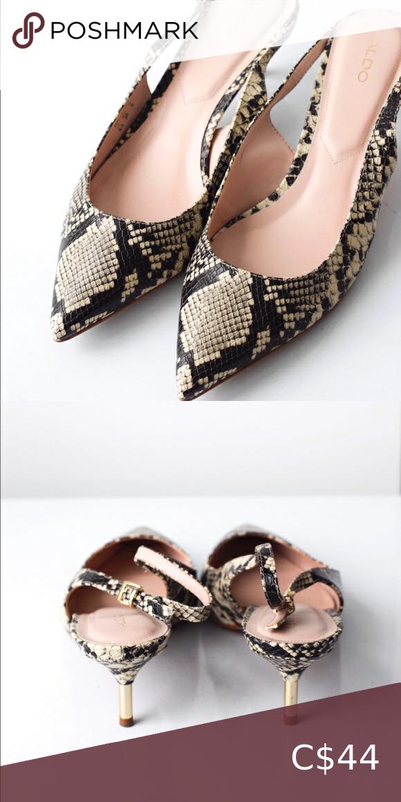 Aldo Snakeskin Leather Sandals in 2020