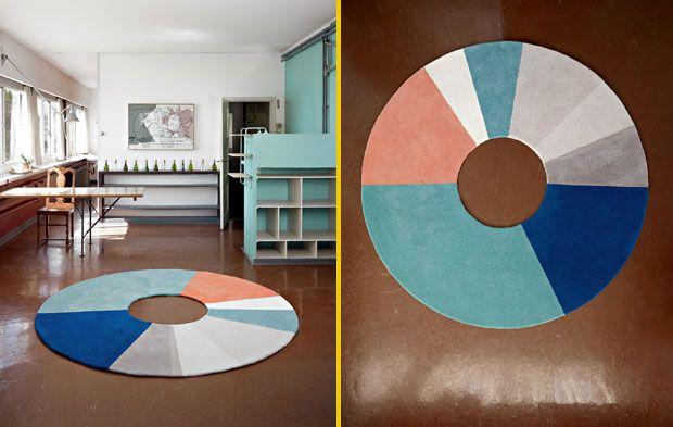Ring Rug è il tappeto circolare di Sylvain Aebischer
