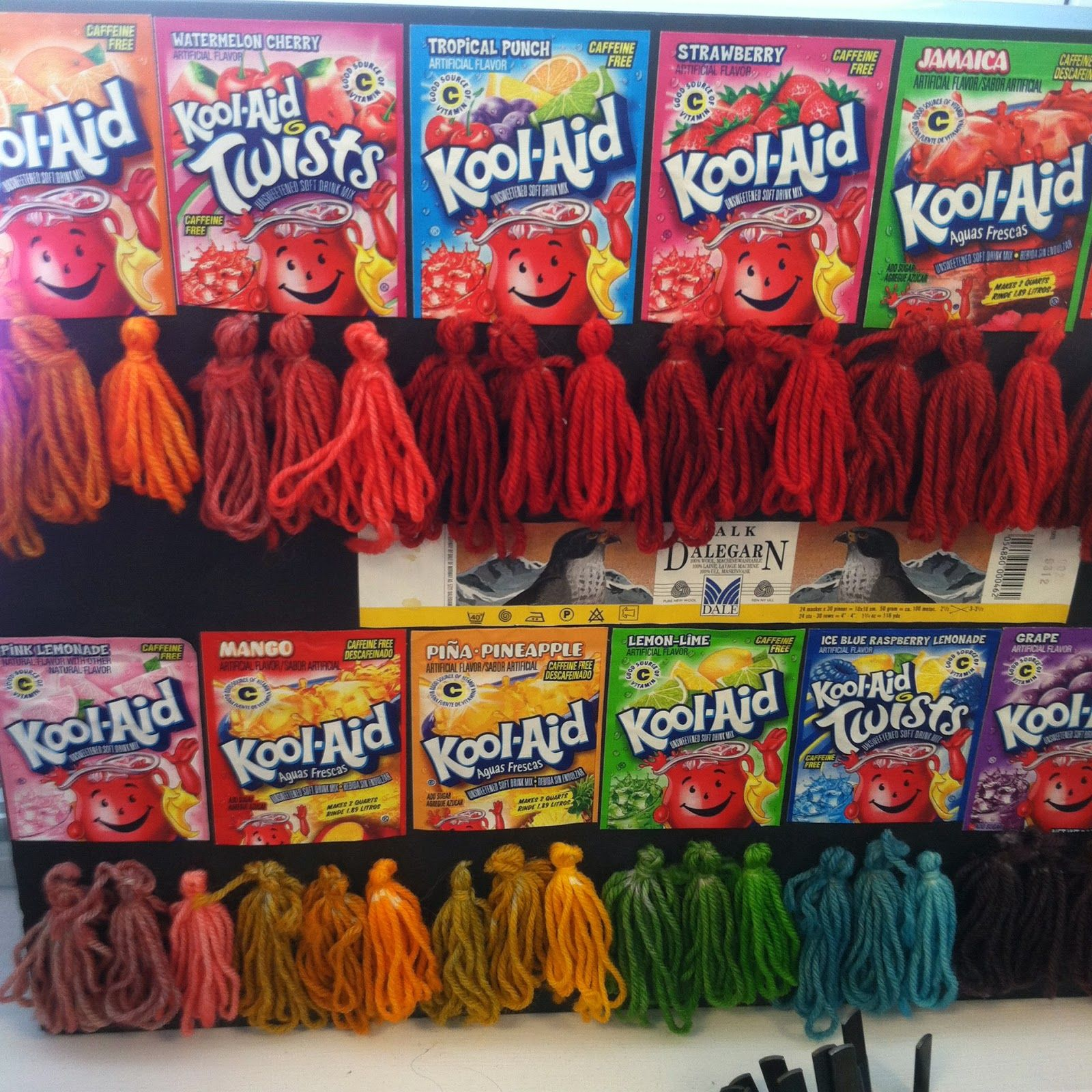 Kool aid dying the next level the yarn marm knittingyarn chart to dye your hair with kool aid geenschuldenfo Image collections