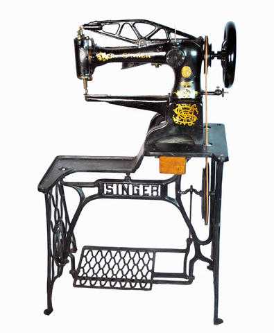 antique industrial singer sewing machine antique singer sewing machine no 29 4 w oscillating. Black Bedroom Furniture Sets. Home Design Ideas