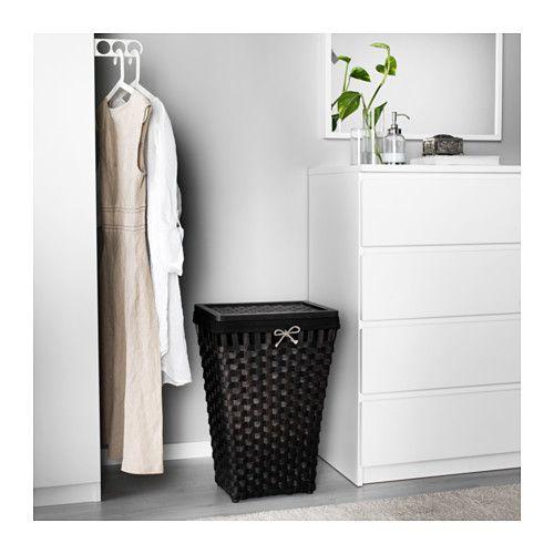 Knarra Corbeille à Lessive Doublée Tissu Ikea Bathroom