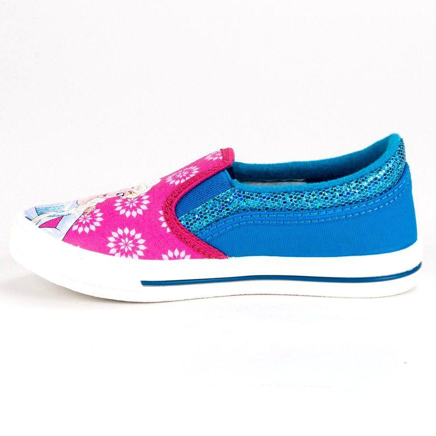 Buty Sportowe Dzieciece Dla Dzieci Butymodne Wsuwane Trampki Kraina Lodu Vans Classic Slip On Sneaker Vans Classic Slip On Slip On Sneaker