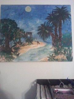 painted acrylic art piece by Carol