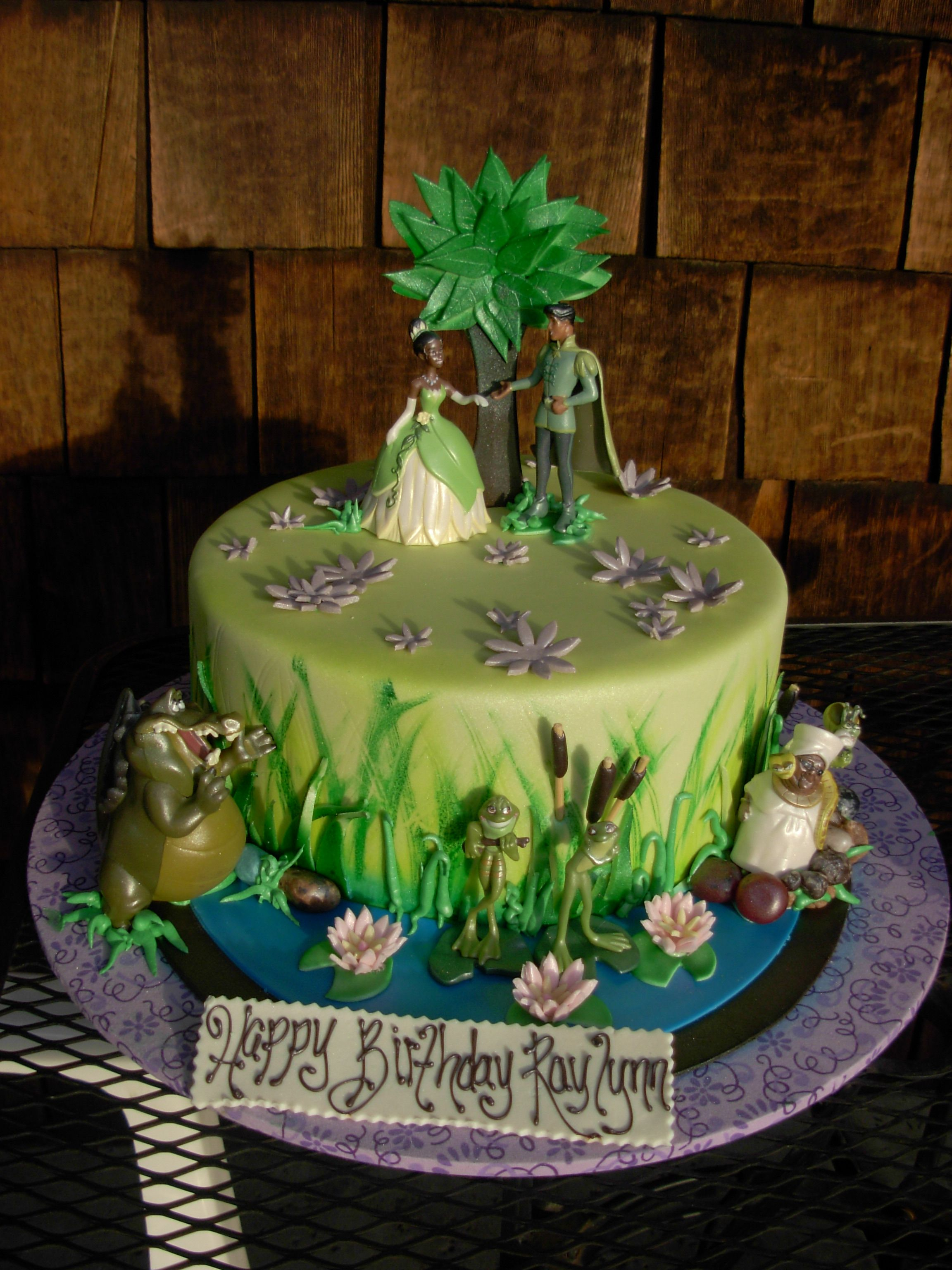 Strange Disney Princess And The Frog Birthday Cake With Images Frog Funny Birthday Cards Online Aeocydamsfinfo