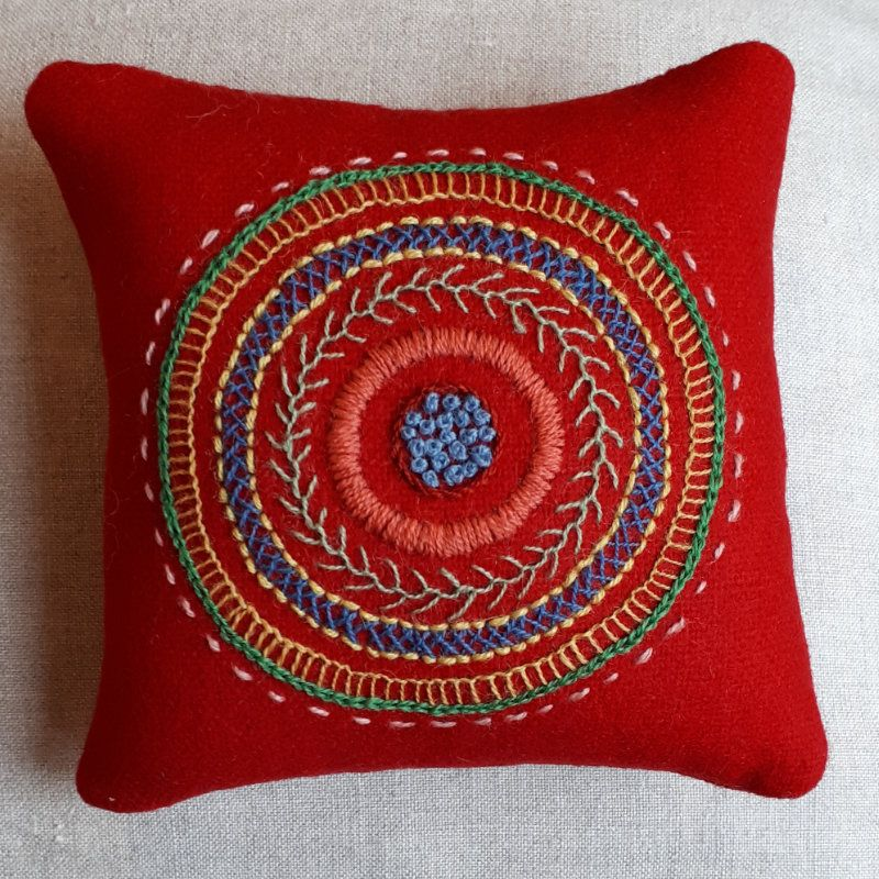 Embroidered handmade pillow cover modern