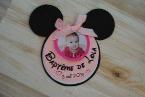 Faire-part naissance et baptême fille : Minnie