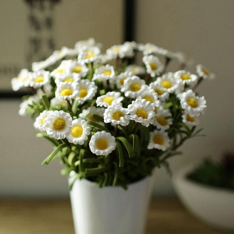 1 bouquet 8 heads artificial fake daisy silk flower home wedding