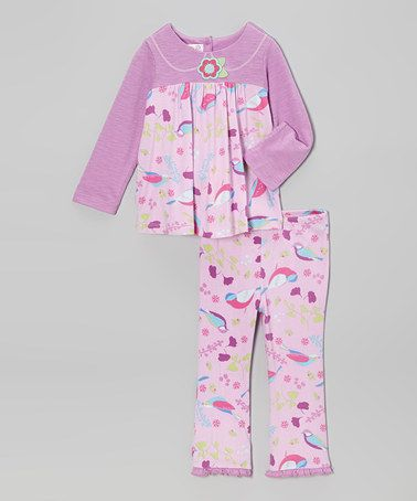 Take a look at this Lavender Lilac Dana Birdie Top & Pants - Infant & Toddler by Baby Lulu on #zulily today!