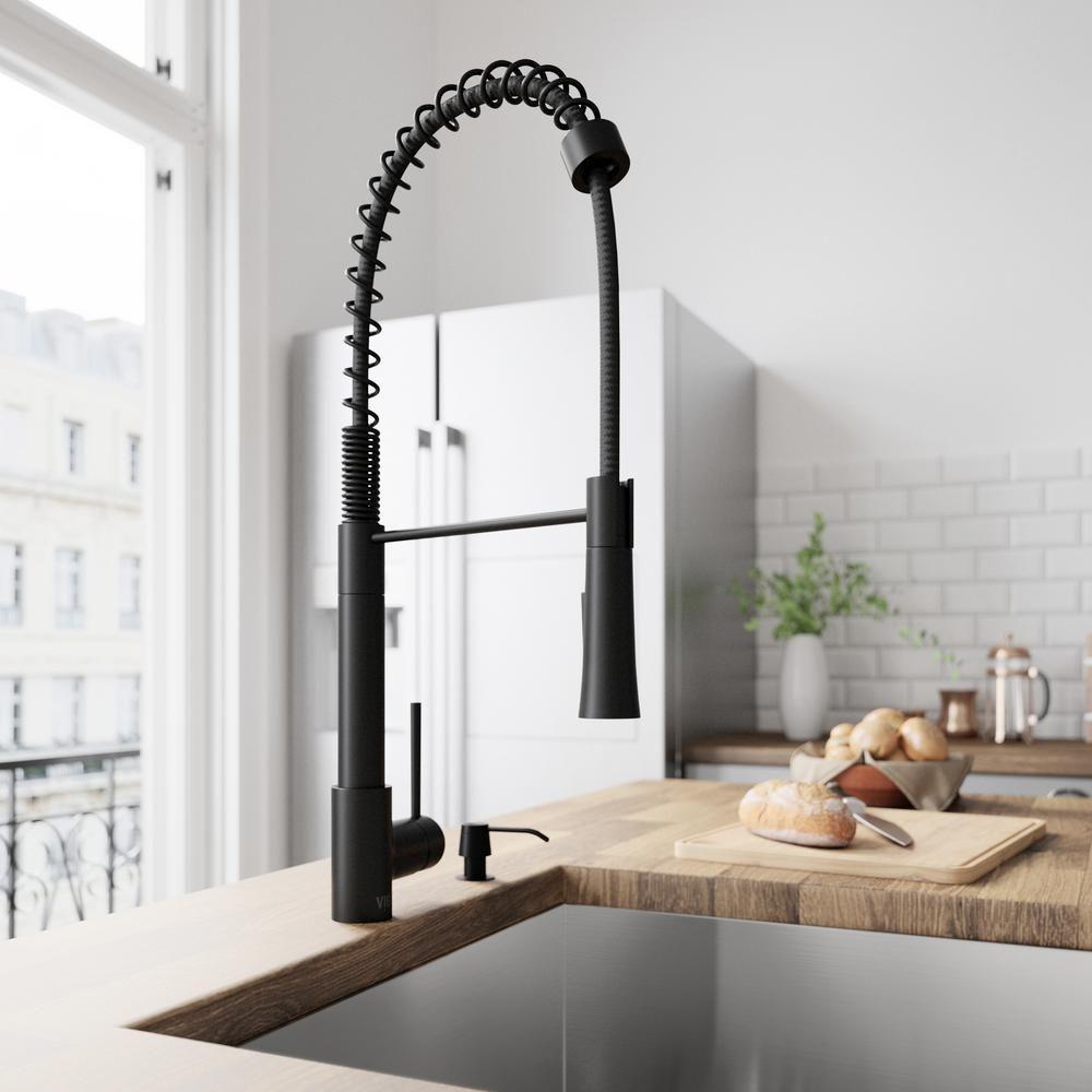 vigo laurelton single-handle pull-down sprayer kitchen