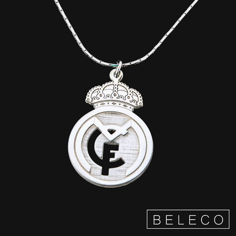 Real Madrid Necklace Real Madrid Gift Real Madrid Jewelry Etsy Joyas Collares Entrenamiento De Abdominales