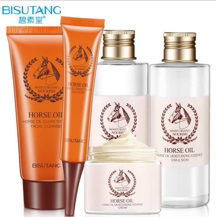 afb31c916ad2 BISUTANG Horse Oil Skin Care Set 5 pcs Cleanser+Skin Toner+Skin ...