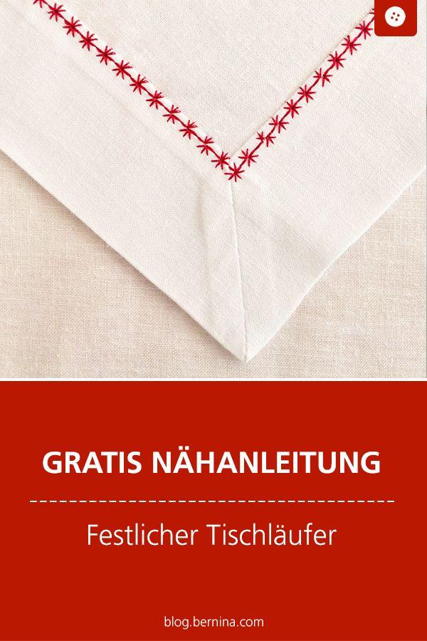 Photo of Nähanleitung: Festliche Tischläufer für den Weihnachtstisch