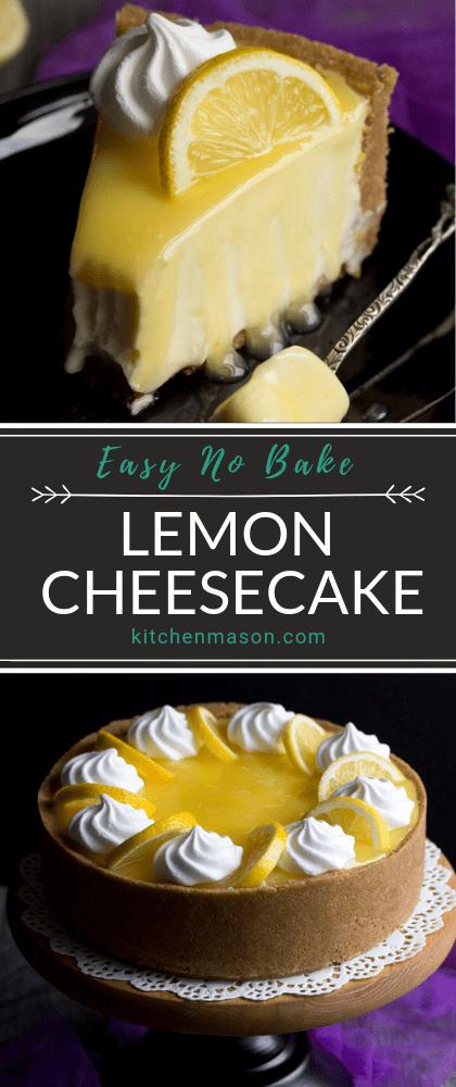 Photo of Easy No Bake Lemon Cheesecake