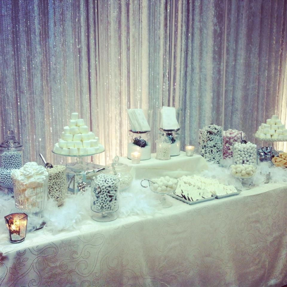 Winter Wonderland Sweets Table by Shelby\'s Sweet Shoppe. get the ...