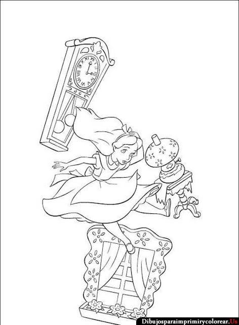 Dibujos De Alicia En El Pais De Las Maravillas Para Imprimir Y
