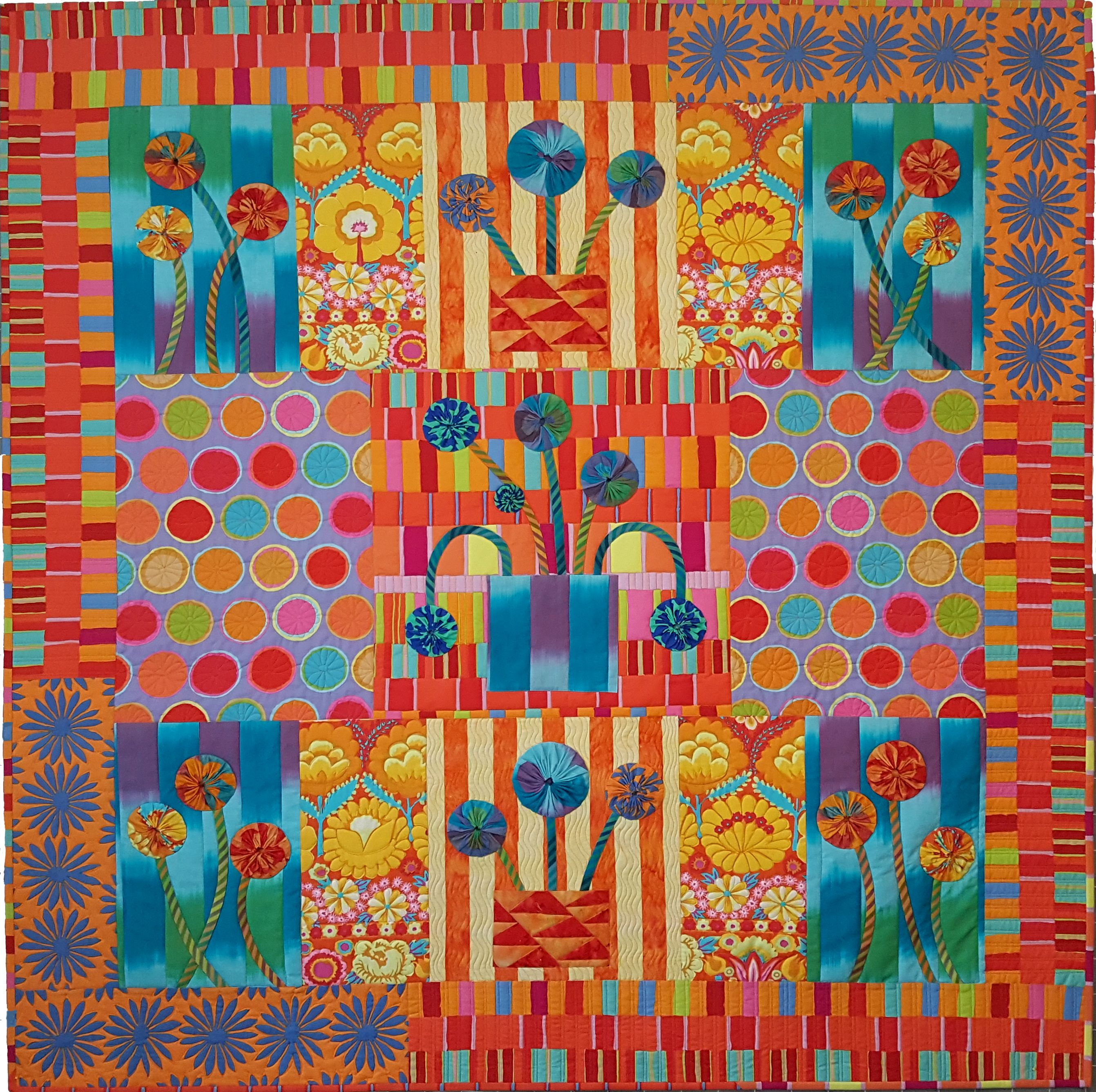 Inspired By Chelsea In Quilts In The Sun. Made With Kaffe