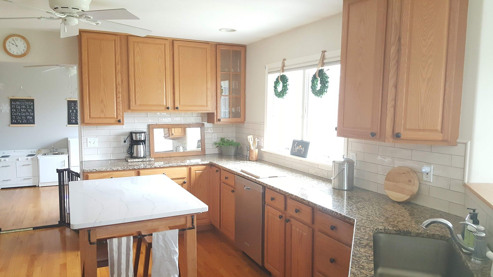 Update A Kitchen W Out Painting Oak Cabinets Growit Buildit Honey Oak Cabinets Oak Cabinets Painting Oak Cabinets