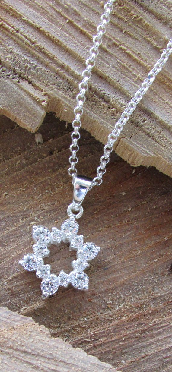 Star of David with Chai Charm 925 Sterling Silver Jewish Judaica Hebrew Life
