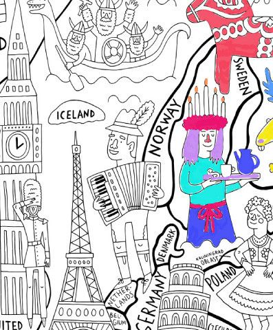 What a Colorful World Really Big Coloring Poster | Fun projects