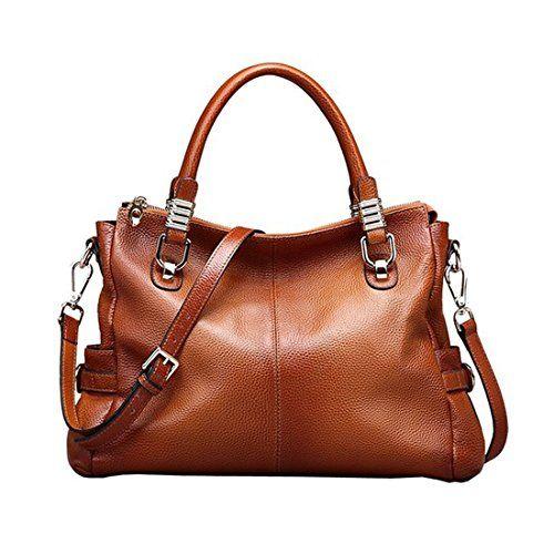 Cowhide Leather Tote Shoulder Bag Women