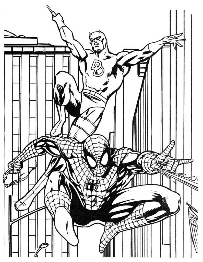 Superhero Coloring Pages   Spiderman coloring, Superhero ...