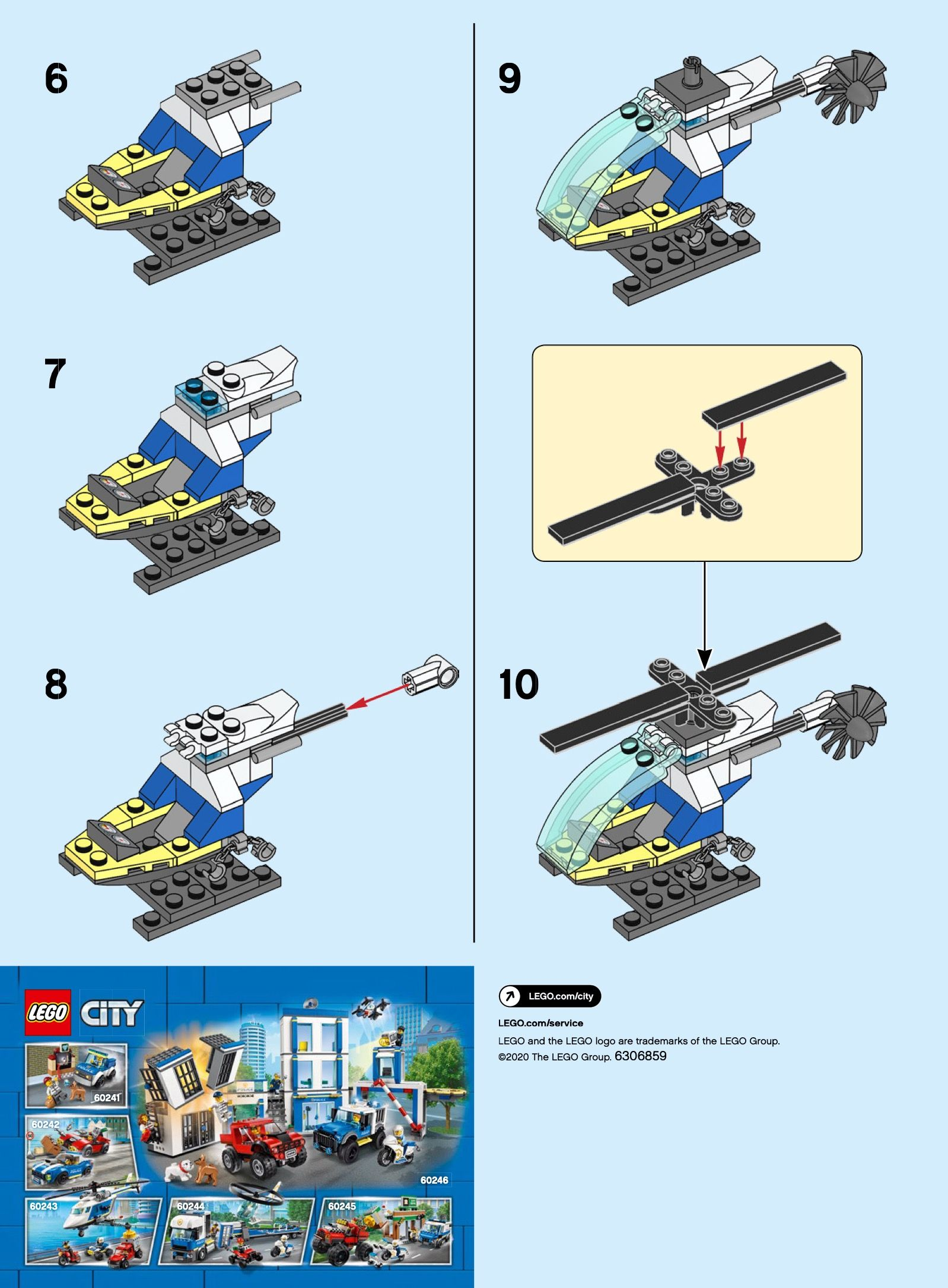City Police Helicopter Lego 30367 In 2020 Lego City Police Helicopter Lego City Police Lego City