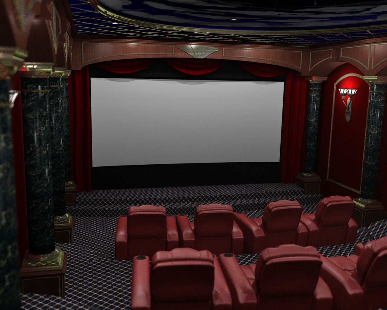 Home Theater Interior Design And Modern Image
