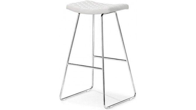 Tabouret ou chaise haute en simili cuir matelassé - Cyra Cuisine