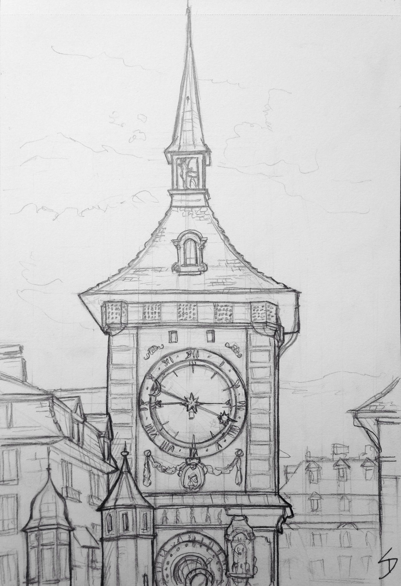 Pin By Will Ann Wllace On Misc Ideas Architecture Drawing Sketchbooks Cool Art Drawings Clock Drawings