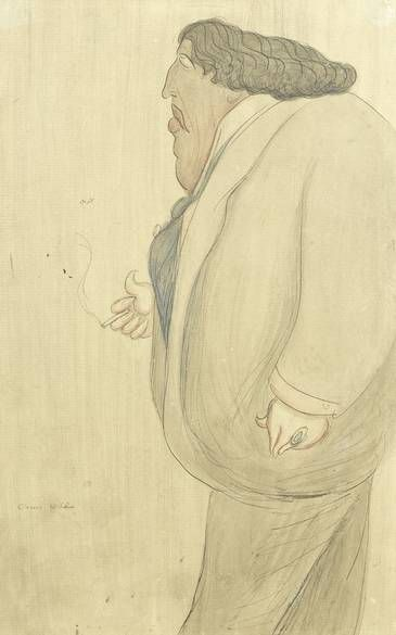 Oscar Wilde by Max Beerbohm from Richard Attenborough collection