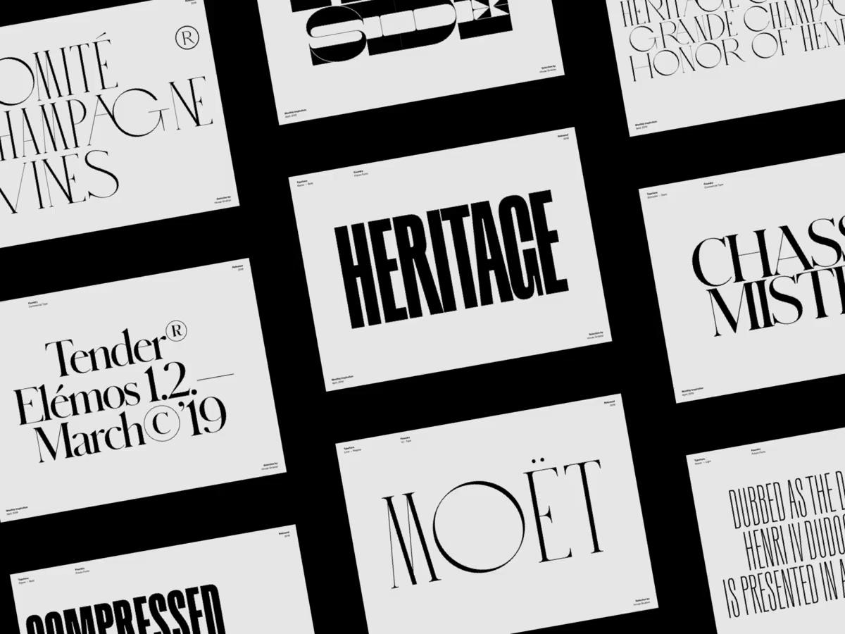 Typography Inspiration April 2019 Font Selection By Hrvoje Grubisic Typography Inspiration Minimal Web Design Web Design