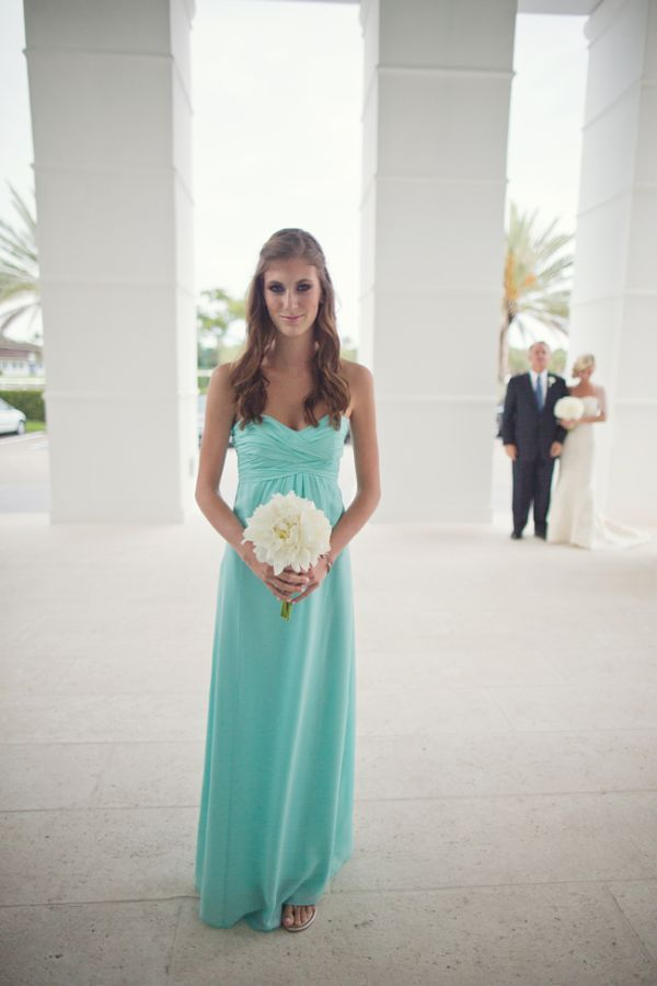 Crisp White And Turquoise Central Florida Wedding