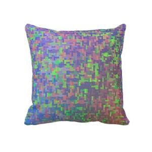 Jigsaw Chaos Colorful Abstract Pillow from Zazzle.com