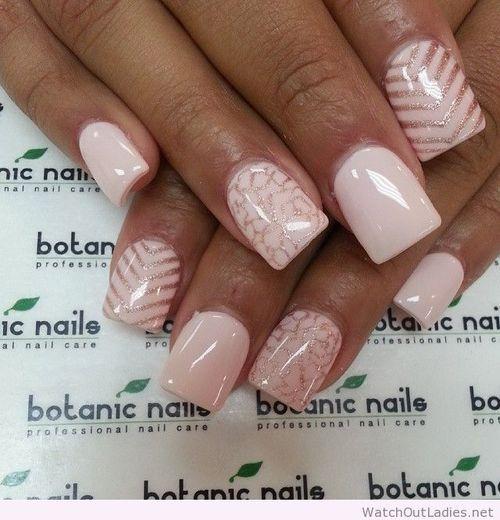 pink white nails - Google keresés