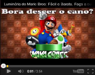 PVC PASSO A PASSO: Luminária do Mario Bros - Passo a Passo.