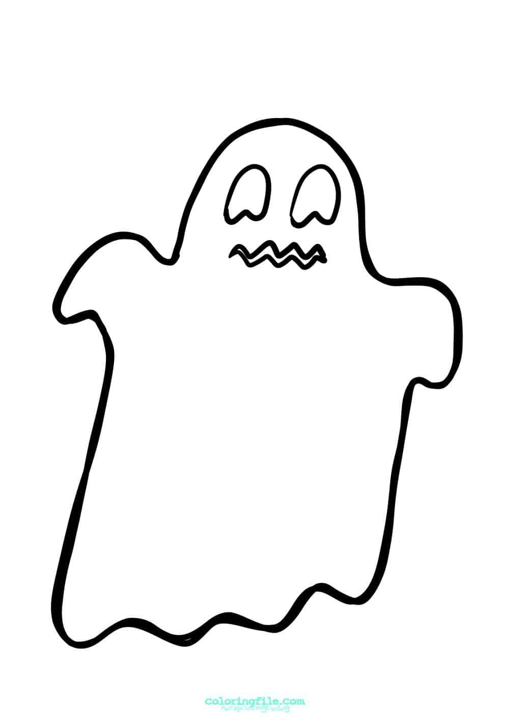 Halloween Ghost Coloring Pages From 100 Halloween Coloring Pages