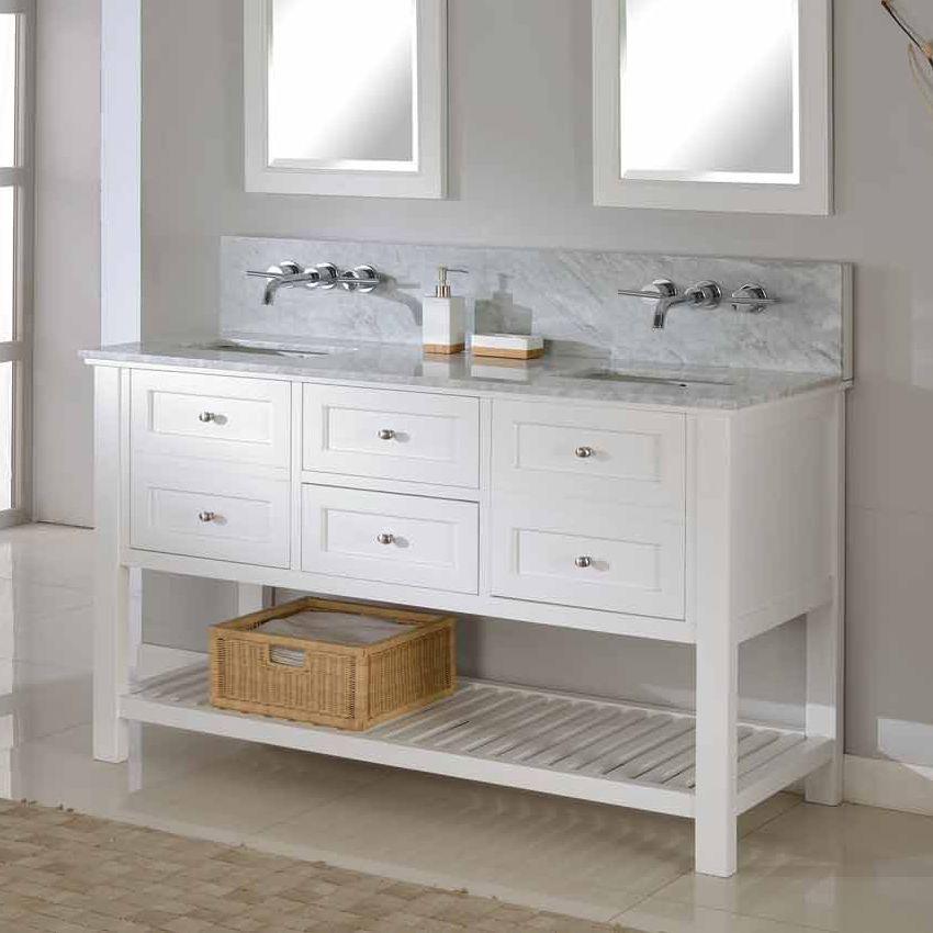 Shop Direct Vanity Sink 60D6 60In Mission Spa Premium Double Sink Alluring Shop Bathroom Vanities Design Inspiration