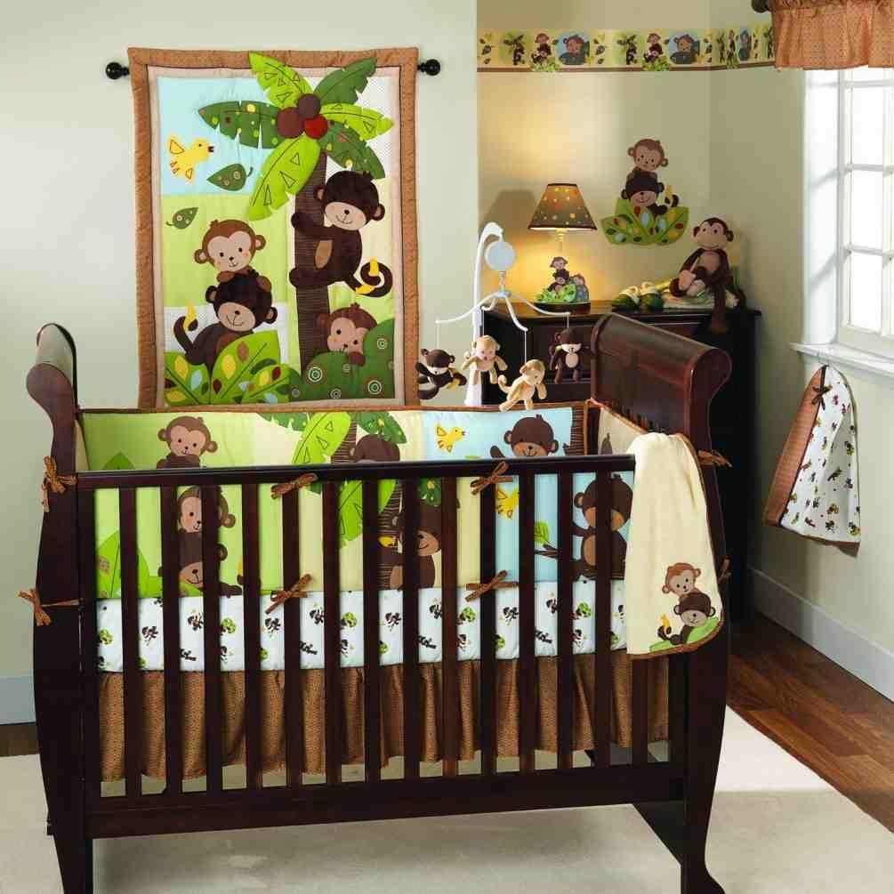 Monkey Decor For Baby Room Crib Bedding