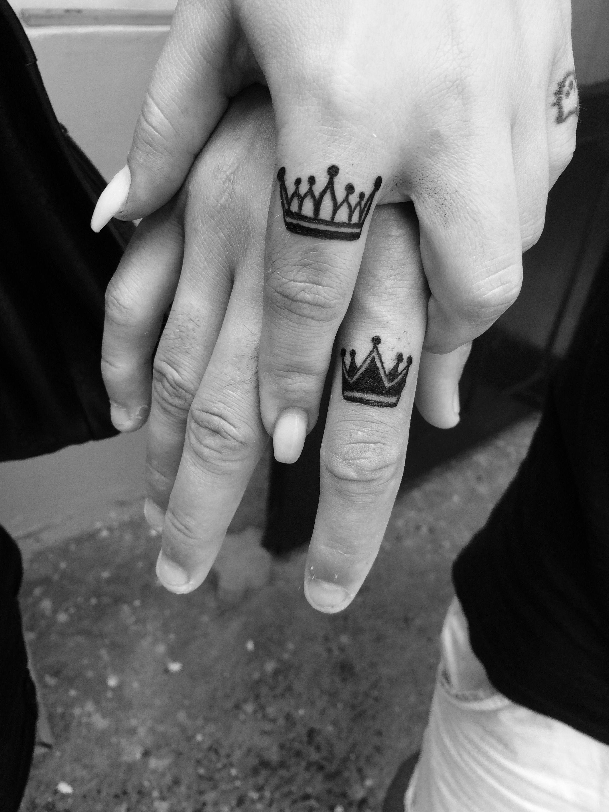 Crown Finger Tattoo Crown Finger Tattoo Wedding Finger
