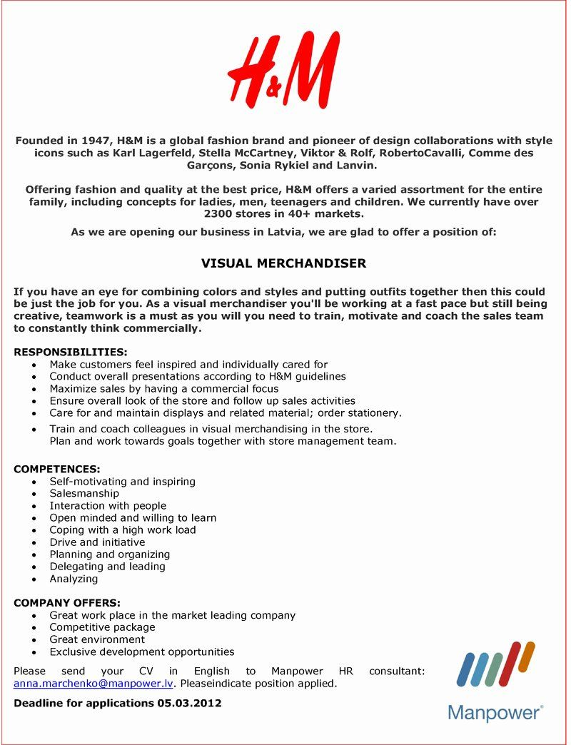 Visual Merchandising Resume Samples Best Of Visual Merchandising Internship Cover Letter Customer Feedba Resume Examples Resume Template Examples Sample Resume