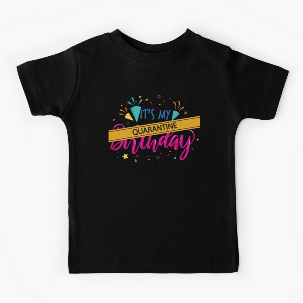 10th Birthday Kids Lockdown T-Shirt Gift Funny Isolation 2020 Cool Joke Ten 10
