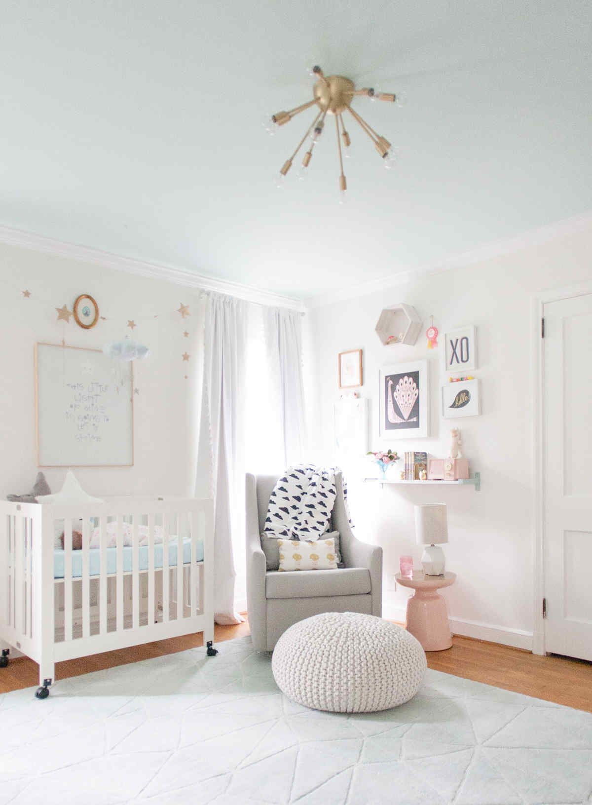 lay baby lay pastel baby room reveal featuring our metallic knit