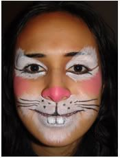 Step By Step Bunny Rabbit Face Painting