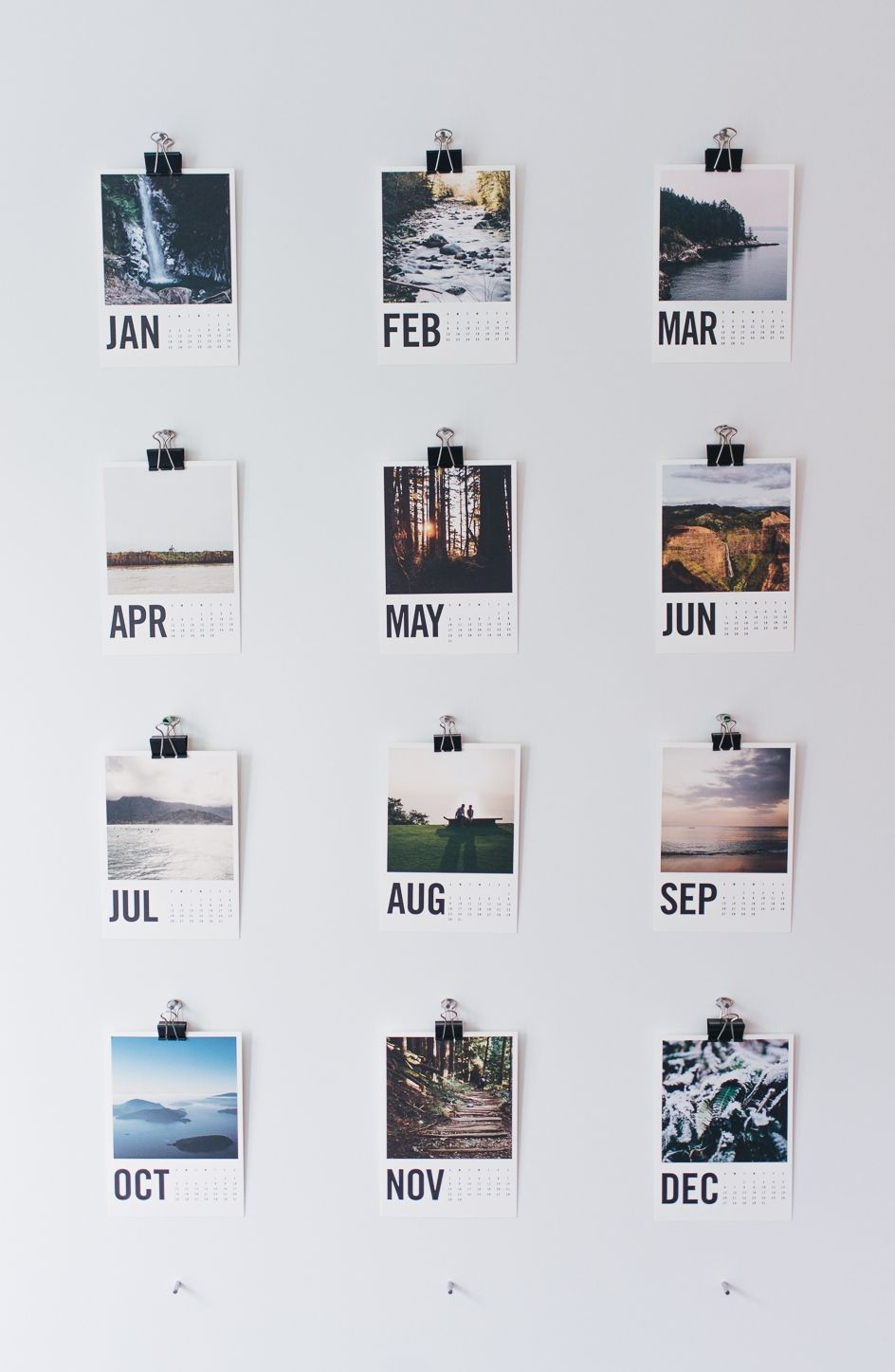 Wood calendar months