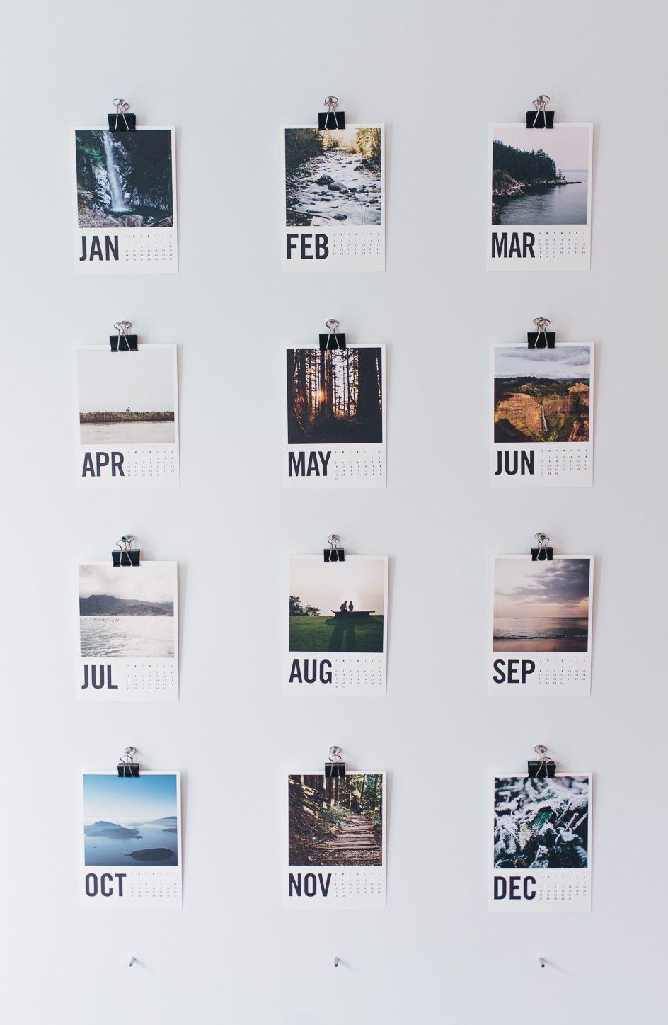 Wood Photo Calendar Clic Room Decor Tumblr