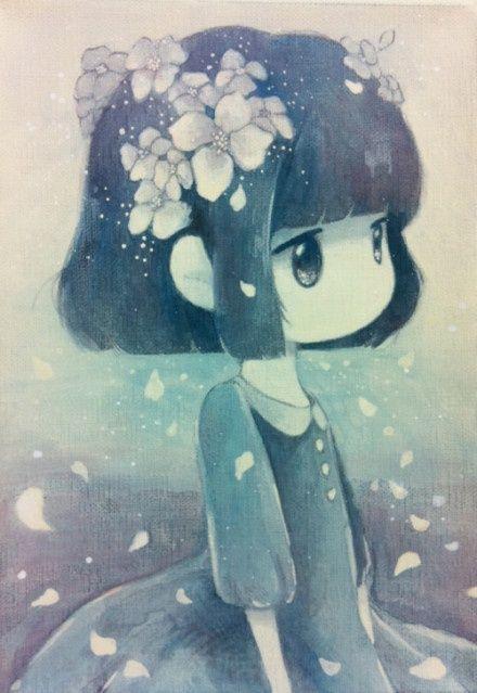 Little Girls Creepy With Shadow Man Google Search Art Anime