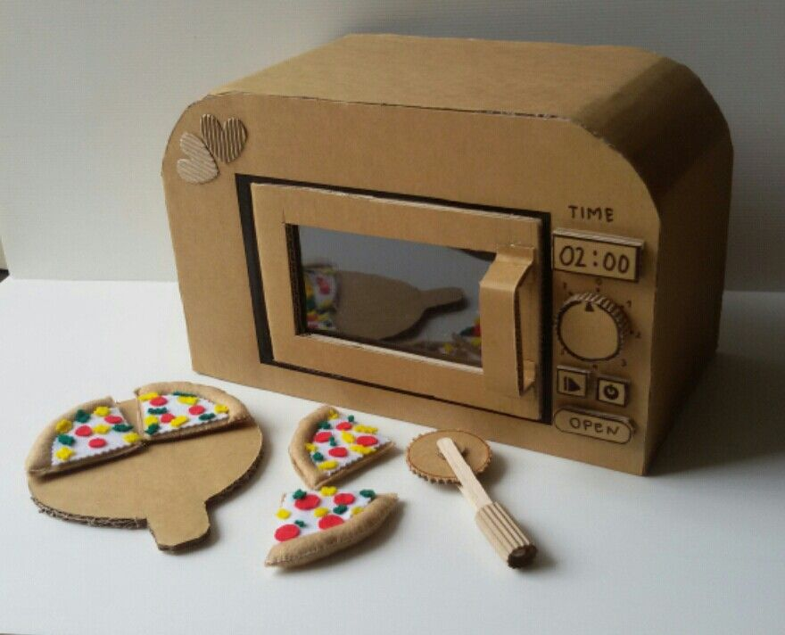 Carboard Microwave With Images Cardboard Toys Cardboard