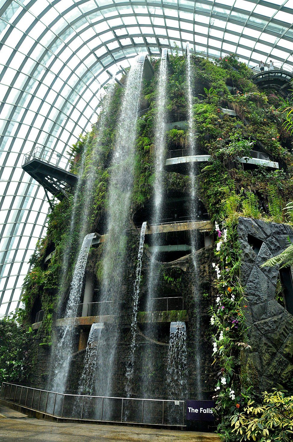 The World S Largest Indoor Waterfall In The Cloud Forest Dome At