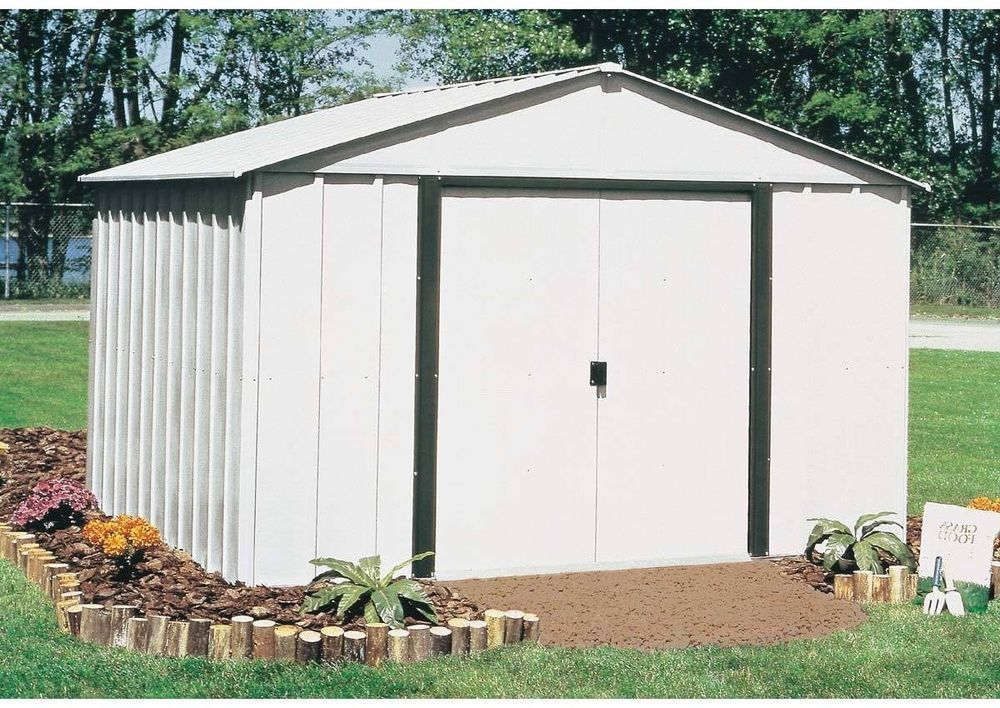Metal Storage Building Shed Outdoor Garden Sliding Door Backyard Steel Tool 10x8 Outdoor Storage Sheds Steel Storage Sheds Metal Storage Sheds